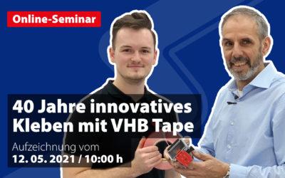 40 Jahre innovatives Kleben mit  3M VHB Tape Niederenergetische Werkstoffe? Kein Problem!